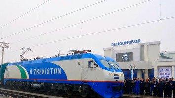 Uzbekistan electrifies railway towards Afghan border