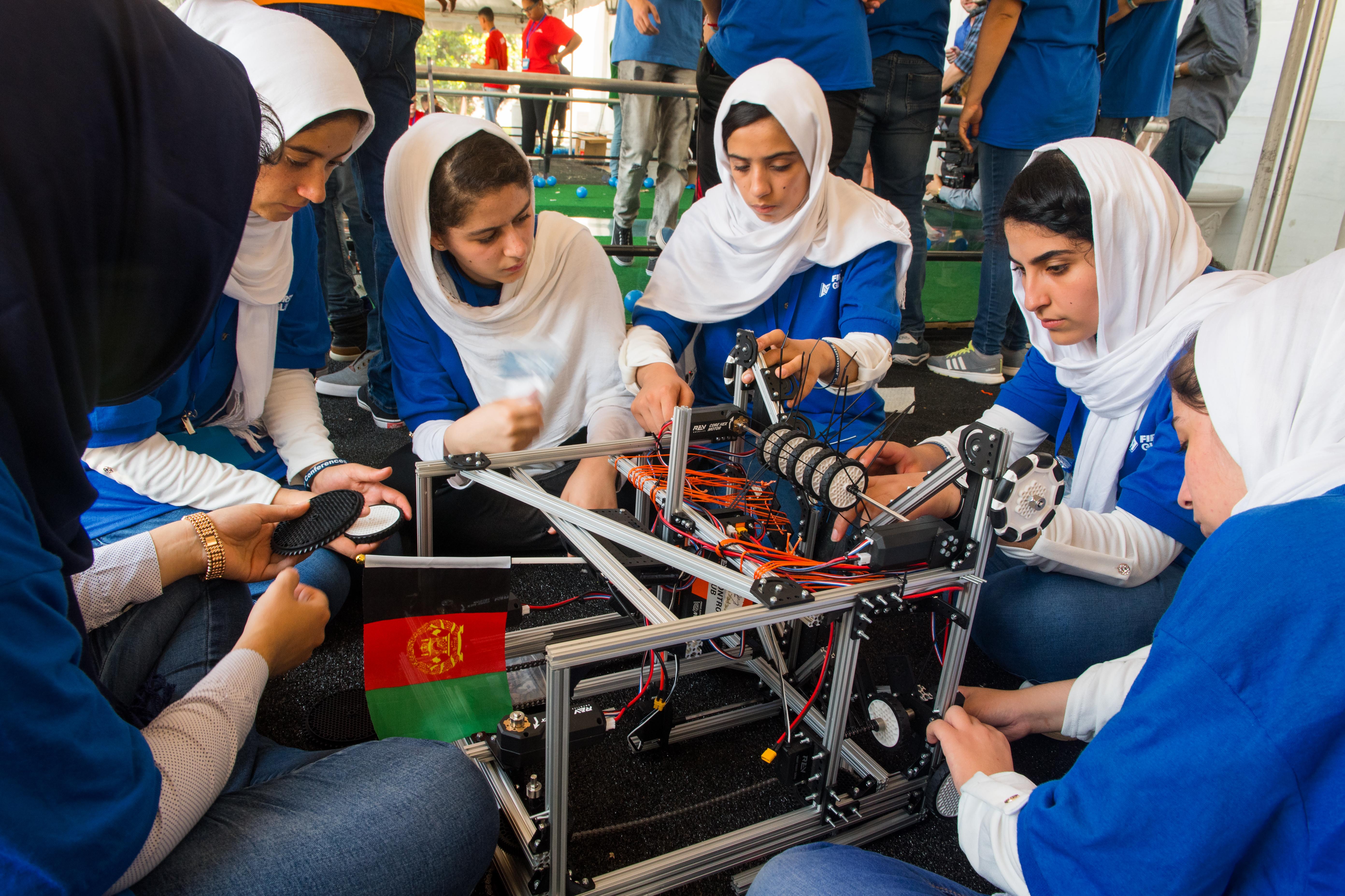Afghan girls' robotics team brings pride to nation