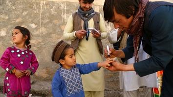 حمایه عمومی از کمپاین واکسیناسیون فلج اطفال در افغانستان