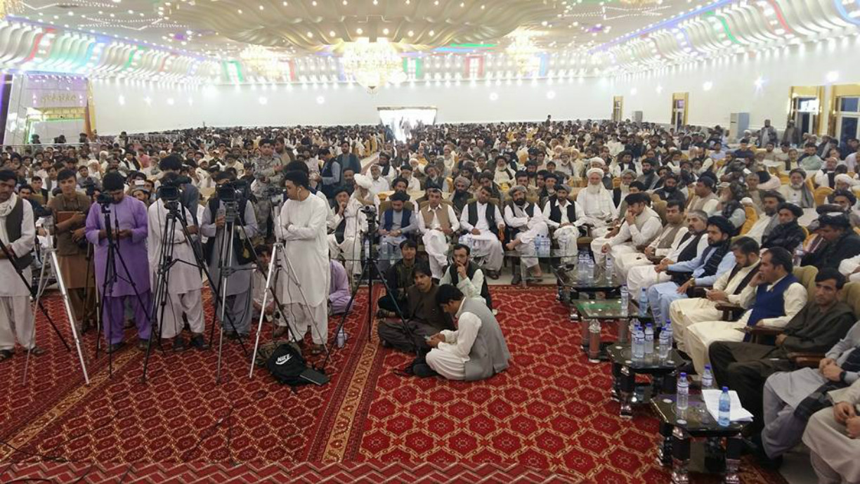 Thousands gather in Kandahar to support new US strategy