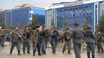 حملهء انتحاری داعش بر یک گرد همایی سیاسی در کابل