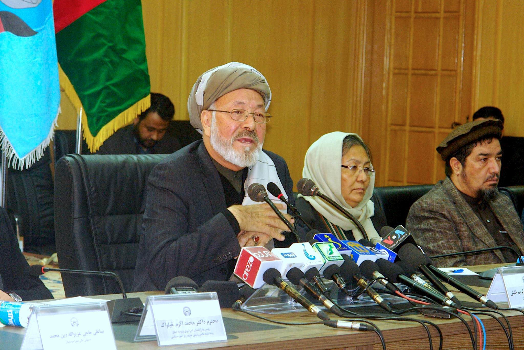 شورای عالی صلح افغانستان برای مذاکرات با طالبان هیچ پیش شرط تعیین نمیکند
