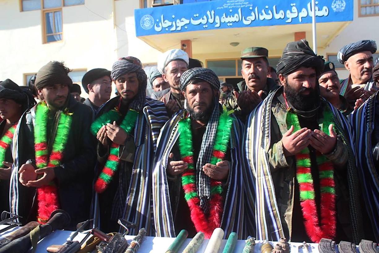 جنگجویان طالب در جوزجان با پروسهء صلح یکجا شدند