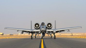 A-10 Thunderbolt IIs arrive at Kandahar Airfield January 19. US Air Forces Central Command has realigned airpower to support increased operations in support of the Resolute Support Mission and Operation Freedom's Sentinel. [US Air Force/Staff Sgt. Sean Martin]