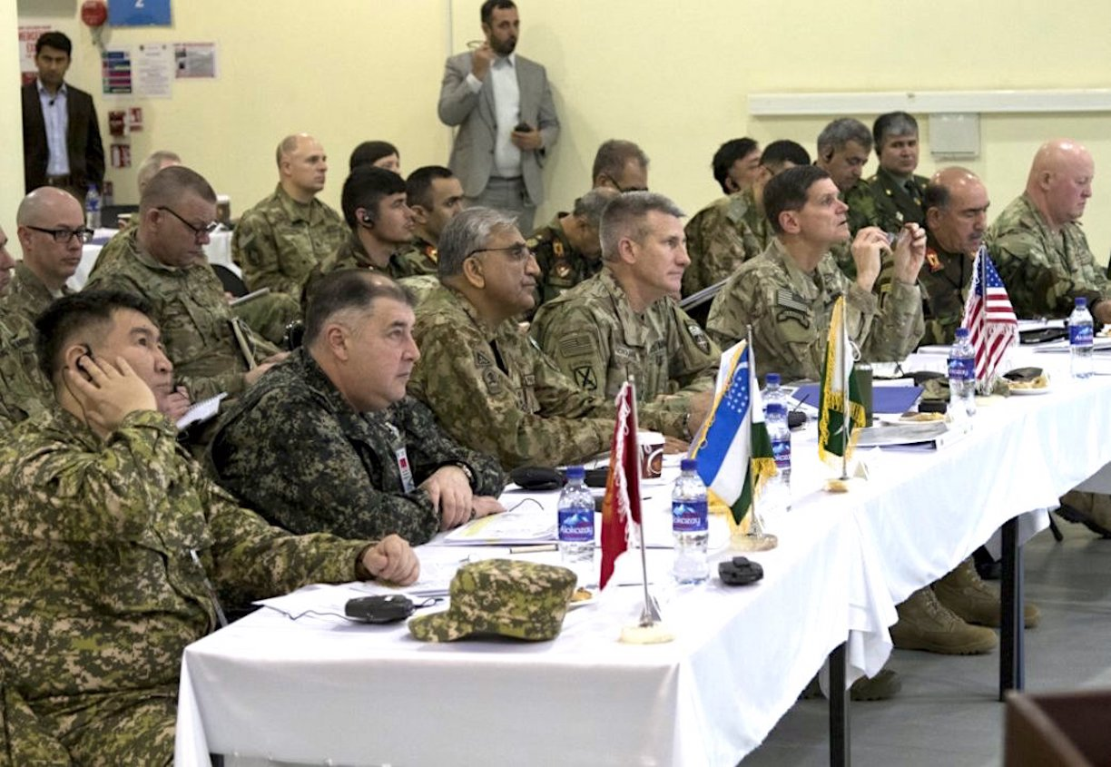 Senior military leaders from Afghanistan, Kazakhstan, Kyrgyzstan, Pakistan, Tajikistan, Turkmenistan, the United States and other NATO countries met in Kabul February 12-13 to discuss security issues affecting the region. [Resolute Support Mission in Afghanistan]