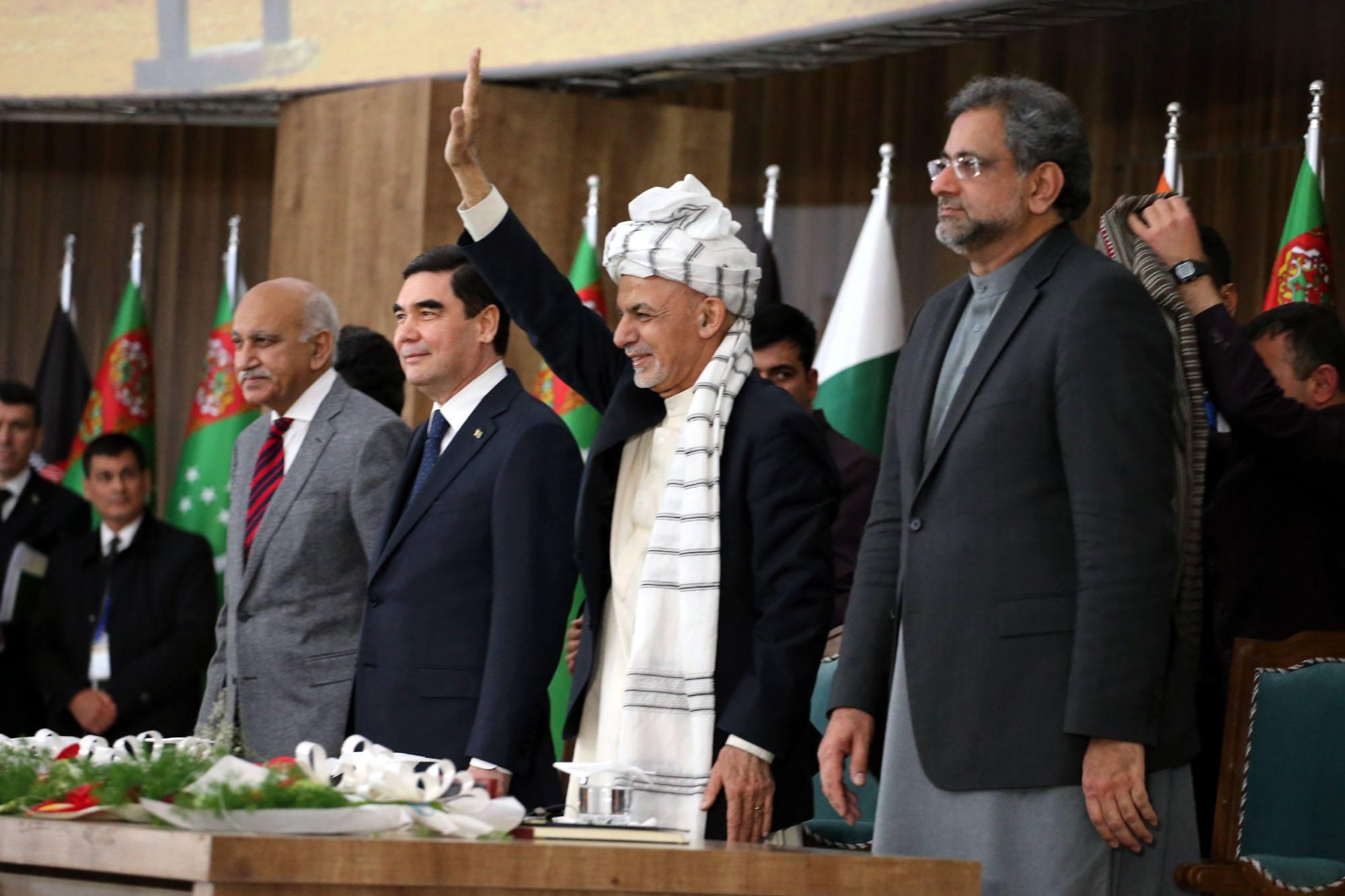 مقامات کشور های منطقه کار احداث بخش افغانستان خط لولهء تاپی را افتتاح کردند