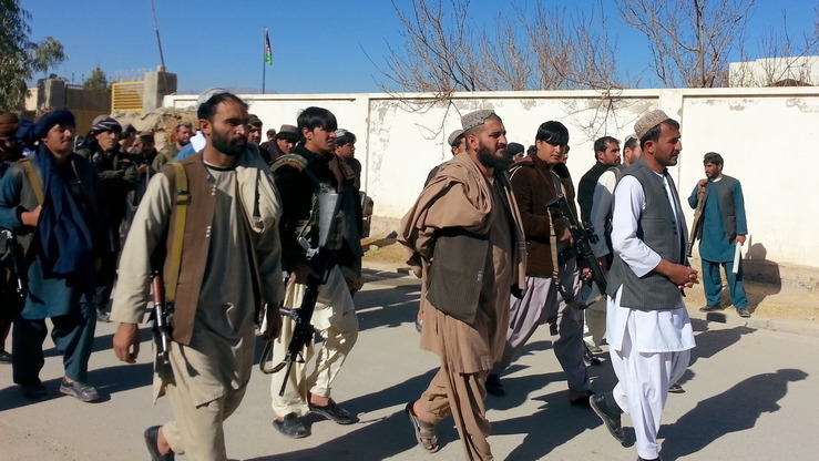 Residents of Uruzgan Province, pictured here January 1, take up arms to fight militants in their areas. Provincial officials are launching new projects aimed at providing job opportunities now that troops have pushed out the Taliban. [Sifatullah Zahidi]