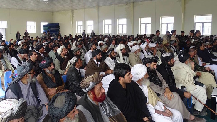 Tribal elders and local residents of Zabul Province March 6 declared their support for the government in a gathering in Qalat, the provincial capital. [Zabul Provincial Media Office]