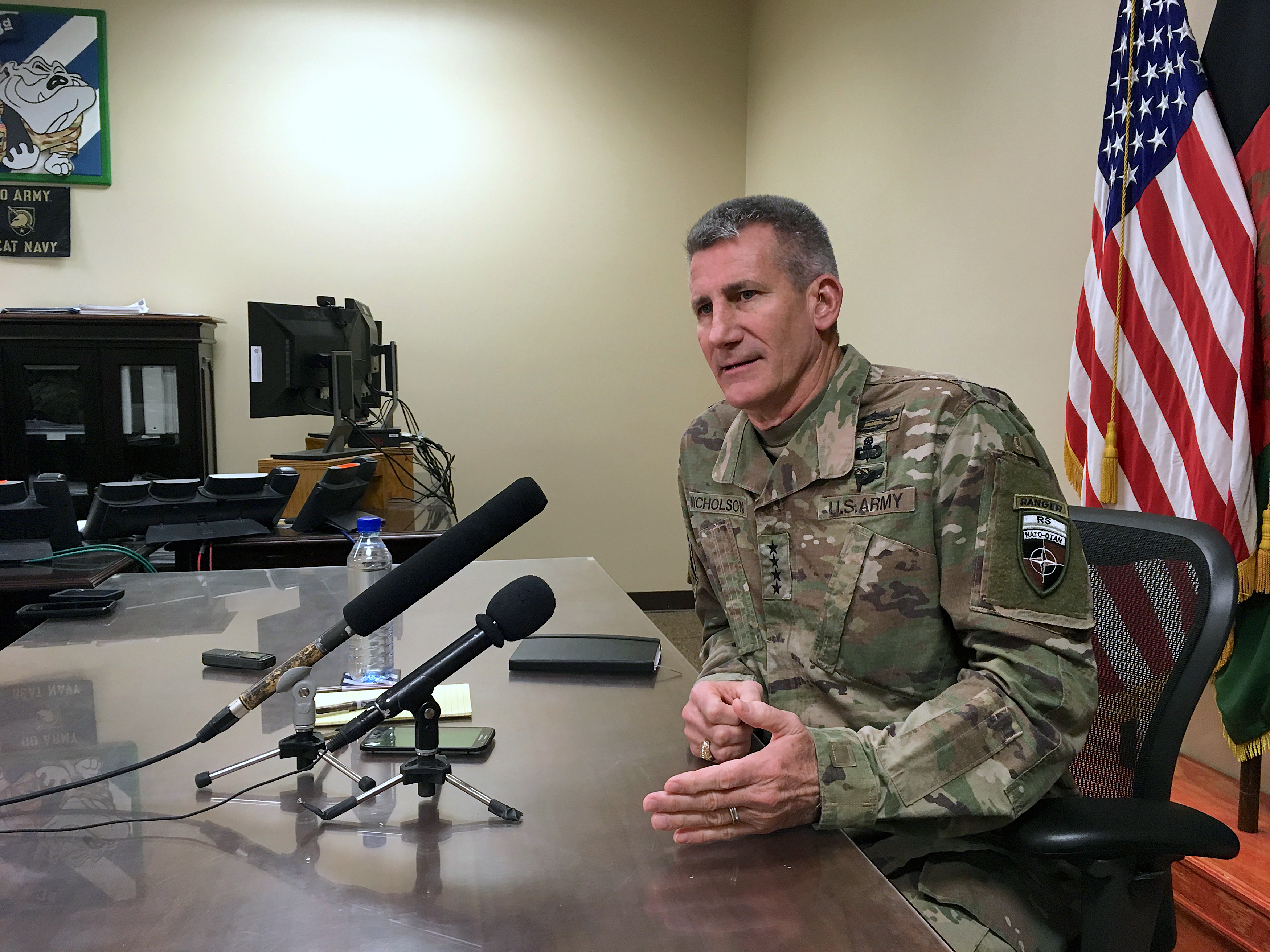 Best time to negotiate peace is now, US general tells Taliban
