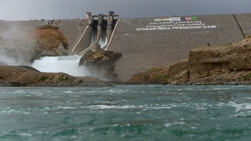 In this photograph taken June 2, 2016, the Salma Dam is seen at Chishti Sharif in Herat province, near the Iranian border. Iran, which considers the dam harmful to its interests, ordered the Afghan Taliban to attack such development projects. [Aref Karimi/AFP]