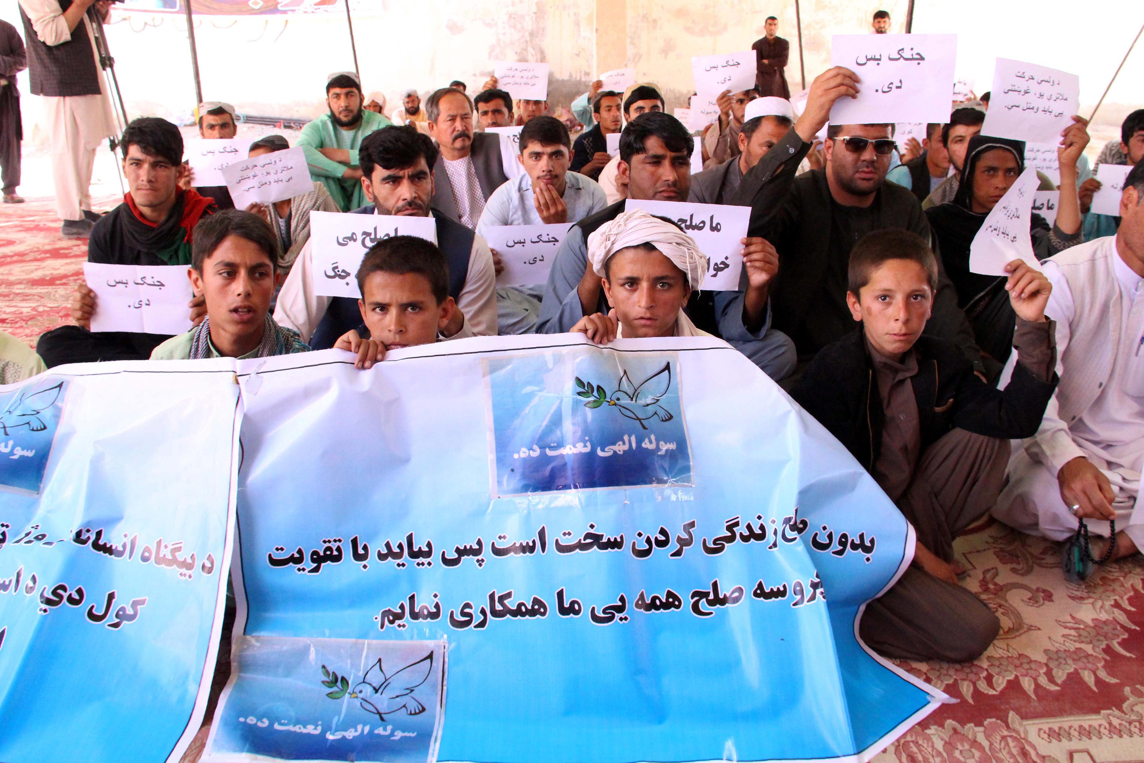 قوت گرفتن مظاهره های هلمند بر ضد خشونت طالبان