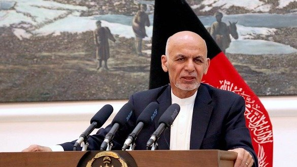 President Ashraf Ghani addresses a news conference in Kabul June 30. [Presidential Palace/Facebook]