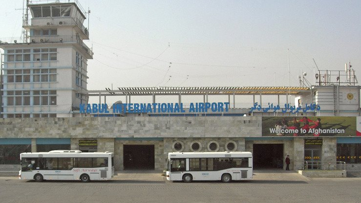 Hamid Karzai International Airport in Kabul is shown in October 2008. [Carl Montgomery/Flickr]