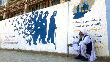 په هرات کې په دېوالونو شوي هنري کارونه جګړه ځپلیو افغانانو ته هیلې ورکوي