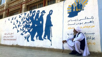 Herat peace murals bring hope to war-weary Afghans