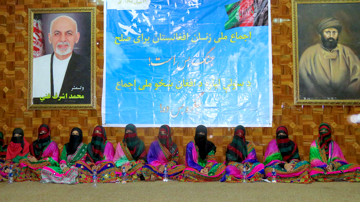Kunar women raise their voices for peace, call on militants to lay down arms