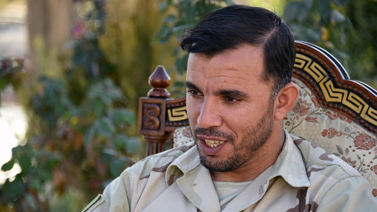 Afghan Gen. Abdul Raziq, police chief of Kandahar Province, speaks during a news conference in his province January 2. He was killed October 18. [Jawed Tanveer/AFP]