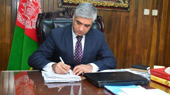 Attorney General Farid Hamidi works in his office in an undated photo. The Attorney General's Office is committed to accelerating fight against corruption and ensuring transparency, Hamidi has said. [Attorney General's Office]