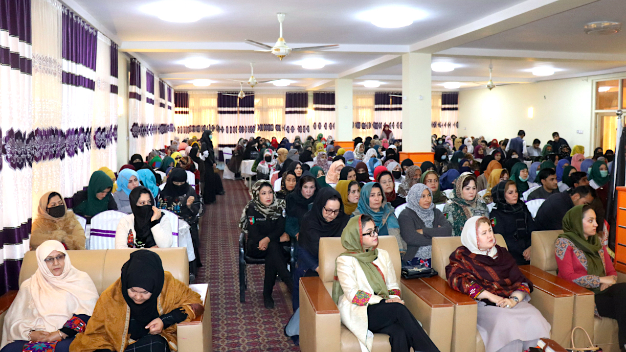 Kunduz women rally under banner 'Enough with the War!'
