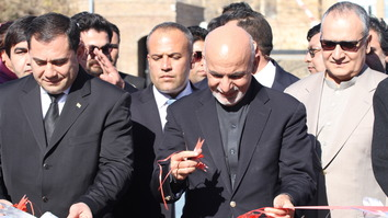 President Ashraf Ghani inaugurates the Lapis Lazuli Route December 13 in Herat. [Omar]