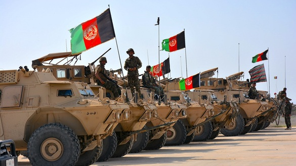 Afghan National Army personnel prepare for manoeuvres in Kunduz city October 16.[Hedayatullah]