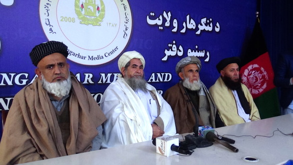Religious scholars, tribal elders and youth from across Nangarhar Province gathered January 14 in Jalalabad, calling on the Taliban to seek peace with the Afghan government. [Khalid Zerai]