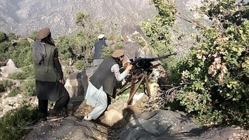Members of ISIS fire upon Taliban positions in Kunar Province last year. [File]