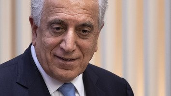 "US Special Envoy Zalmay Khalilzad participates in a discussion on ""The Prospects for Peace in Afghanistan"" at the United States Institute of Peace in Washington, DC, February 8. [Jim Watson/AFP]"
