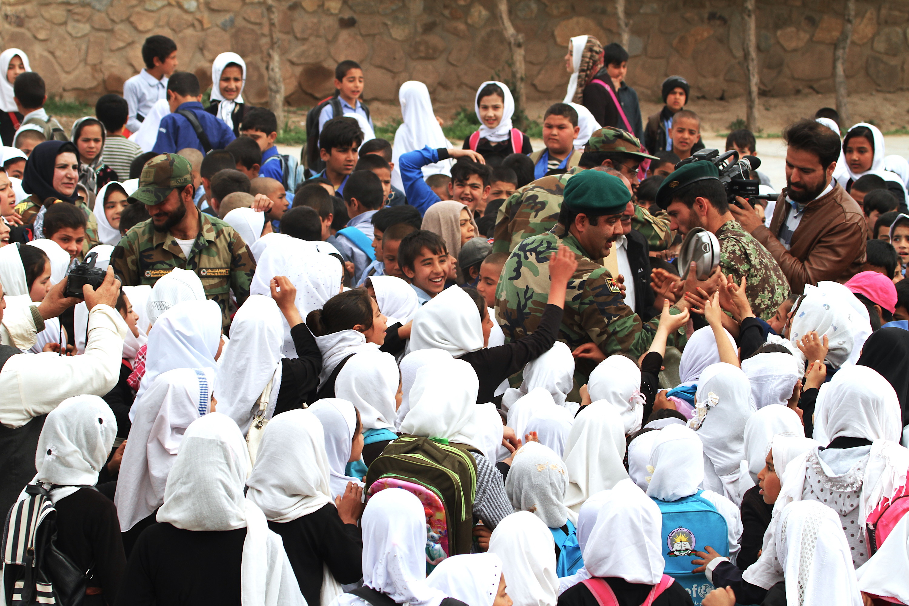 Afghan army provides students in Herat with much-needed hope, supplies