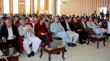 Herat local officials and religious scholars were among those who attended the May 13 gathering in Herat city, Herat Province. [Omar]