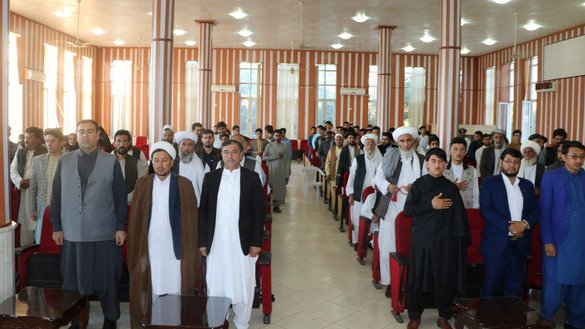 Hundreds of Herat residents, including religious scholars, youth and women, gather June 2 in Ghazi Amanullah Khan hall in Herat city to condemn the Taliban leader's message ahead of Eid ul Fitr. [Omar]