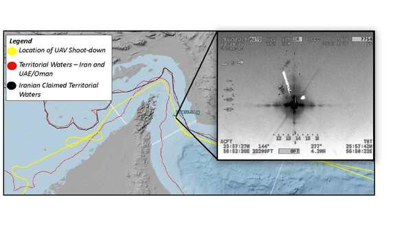 Handmade drawings vs. satellite imagery: US military pinpoints downed drone's flight