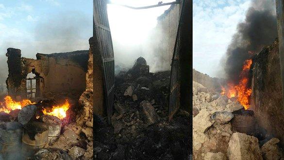 کارخانه های تخریب شده بمب سازی طالبان در غزنی مربوط به تروریست های جهانی بودند