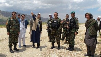Female district governor in Balkh joins front line against Taliban