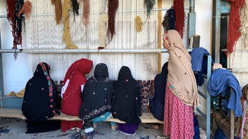 Widows of soldiers killed by Taliban find unique job opportunity in Nangarhar