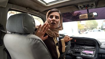 'Pink Shuttle' buses help Afghan women navigate conservative society