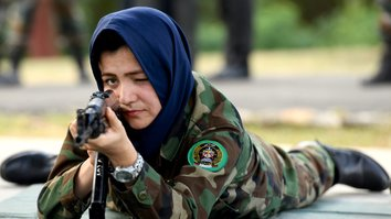 In photos: female Afghan army officers receive tactical, weapons training overseas