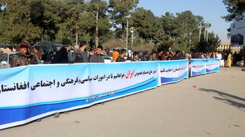 Herat residents rally against Tehran's efforts to undermine peace deal