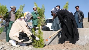 Herat, Badghis residents plant saplings for peace, call out Taliban for renewed attacks