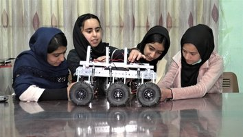 Afghan all-girls robotics team aims to save lives with demining robot