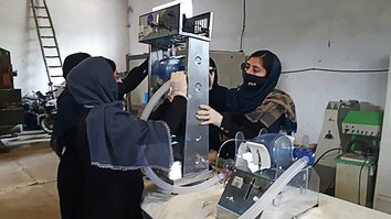 Afghan girls build low-cost ventilator from car parts to fight coronavirus