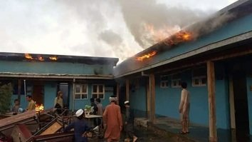 Taliban set fire to high school in Takhar, burning 10,000 books