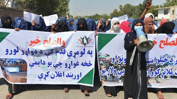 Nangarhar women rally for ceasefire amid deadly attacks on security forces