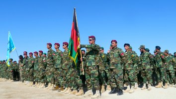 Newly trained Afghan soldiers vow to destroy enemies of the country