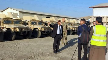 US delivers hundreds of Humvees, combat gear to Afghan forces
